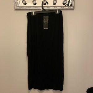 NWT Boo Hoo Basic black midi skirt size 10